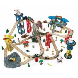 Vláčkodráha KidKraft SUPER HIGHWAY TRAIN SET